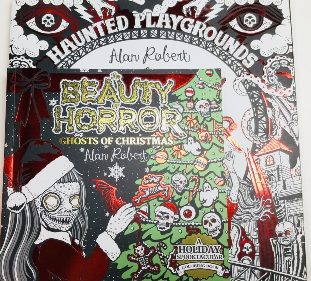 Ghosts of Christmas coloring book sizing guide