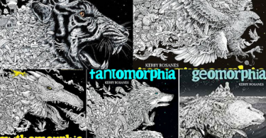 colormorphia coloring book kerby rosanes 375x195 - Colormorphia: A Celebration of Coloring Book