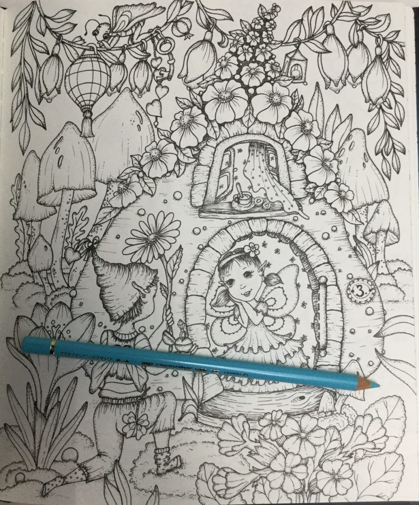 One of the many beautiful fairy houses featured in Fairy Miracles Coloring Book