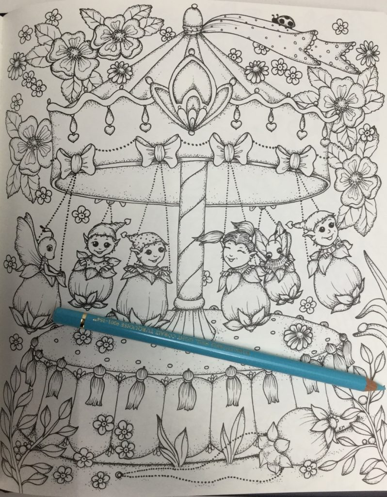 gorgeous carousel featured in Fairy Miracles Coloring Book