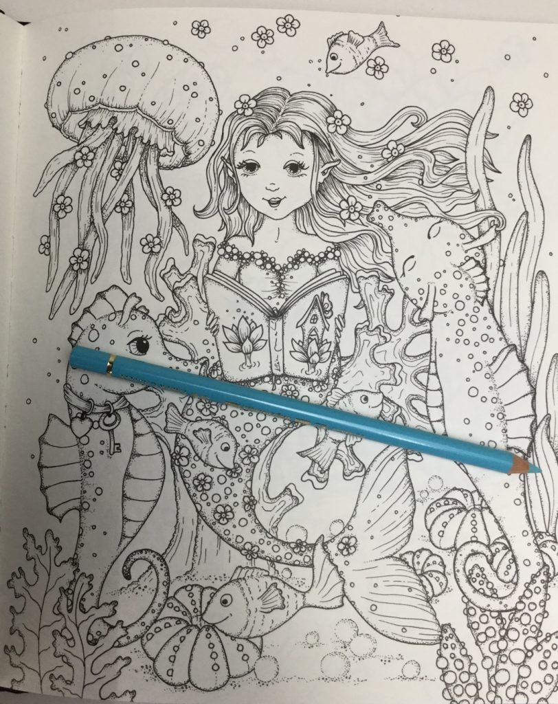under the sea image from Fairy Miracles Coloring Book