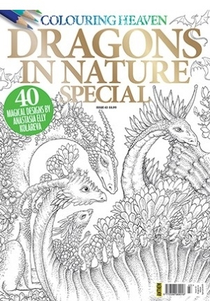Dragons in Nature Coloring Heaven Magazine Special
