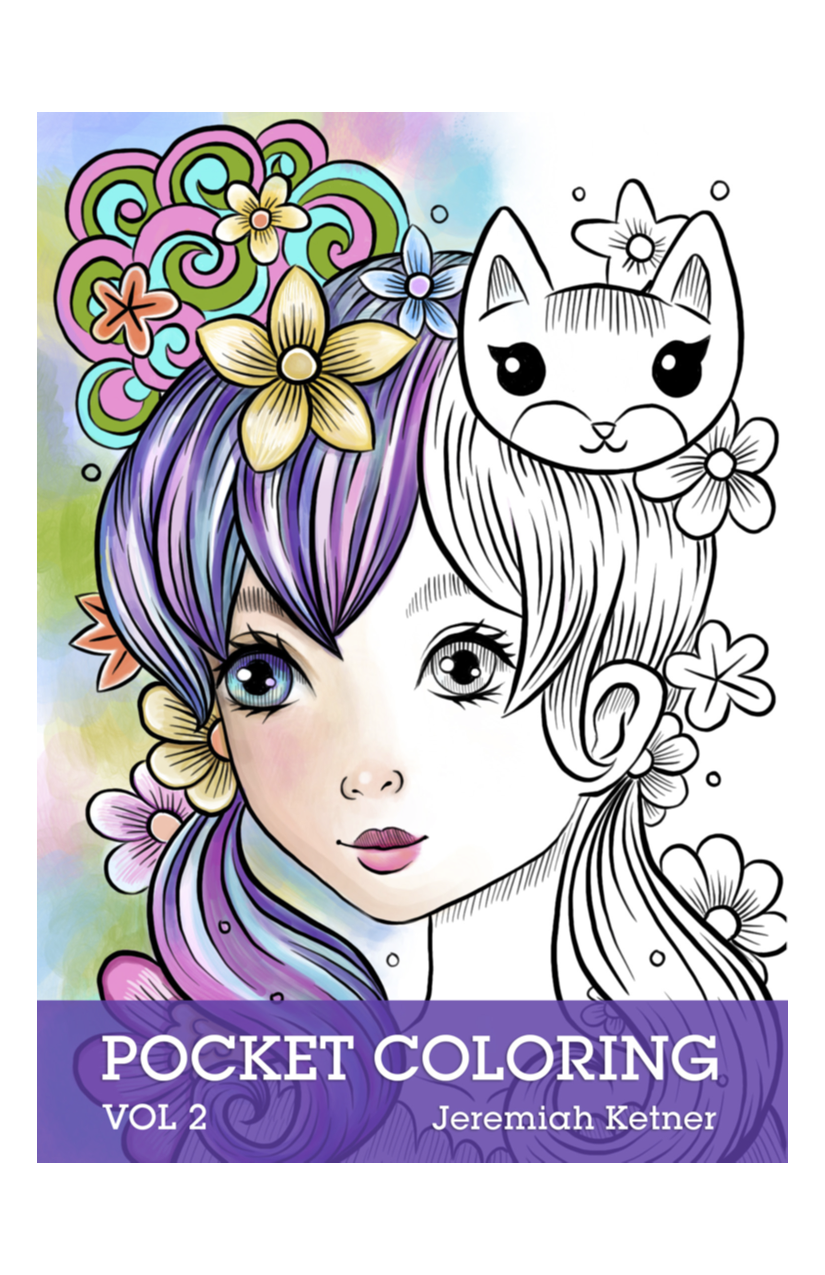 Pocket Coloring Book - Volume 2 - Coloring Book Review