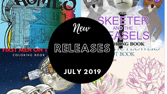 Coloring Books - New Releases - July 2019 | Coloring Queen