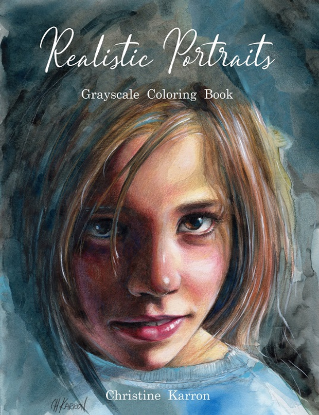 - Realistic Portraits Grayscale Coloring Book Review Coloring Queen