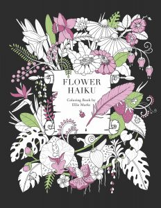Flower Haiku Colouring Book cover art