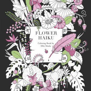 Flower Haiku Colouring Book cover art