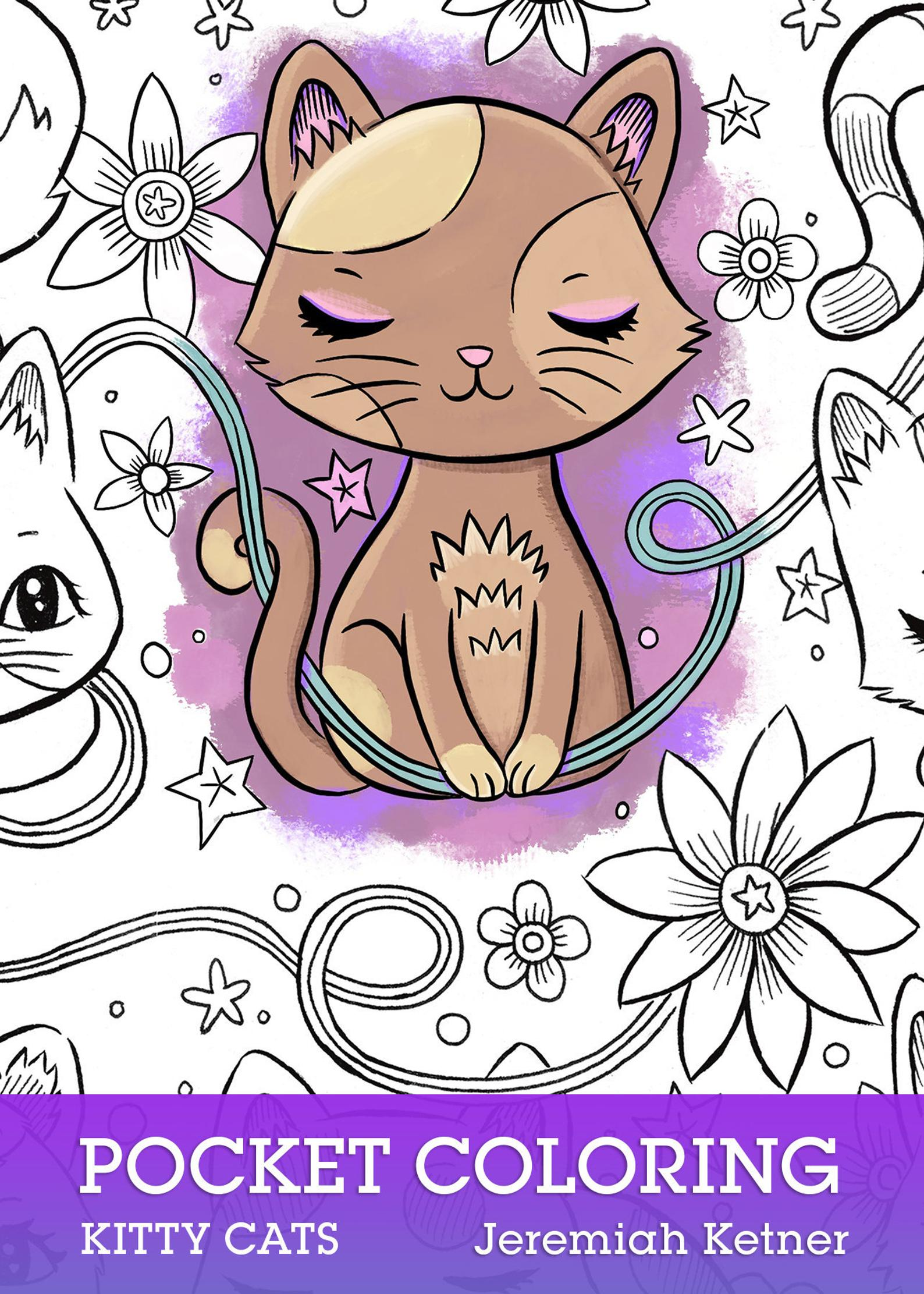 Kitty Cats Pocket Coloring Book