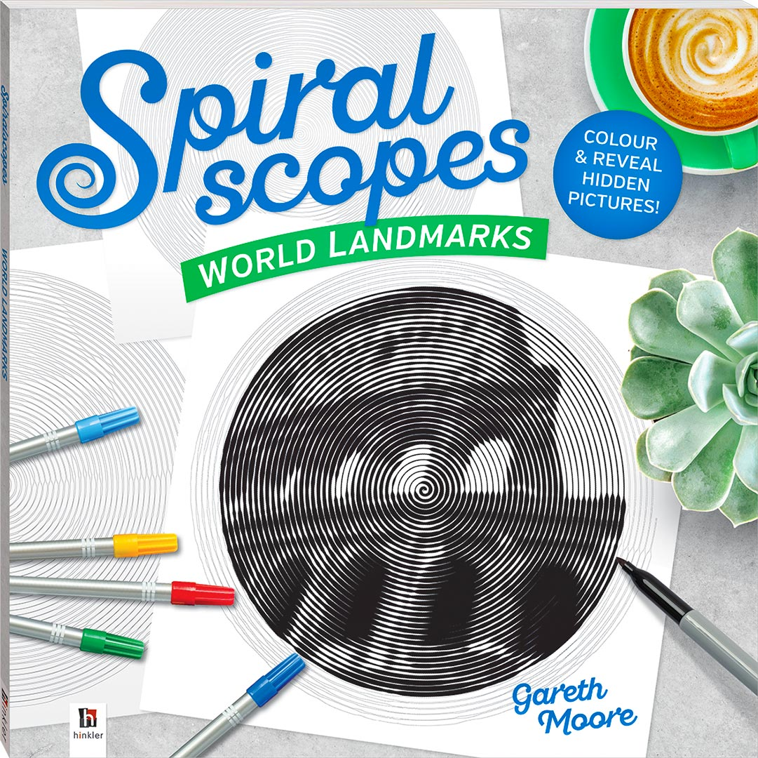 Spiral Scopes: World Landmarks  Coloring Book Review
