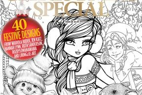 Colouring Heaven: Cutesy Christmas Special Colouring Book cover