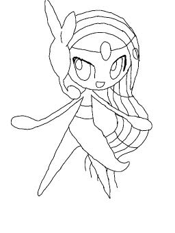 Meloetta Pirouette Coloring Pages