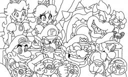 Kleurplaten Mario En Peach.Prinses Peach Kleurplaat Princess Peach Coloring Pages To Print