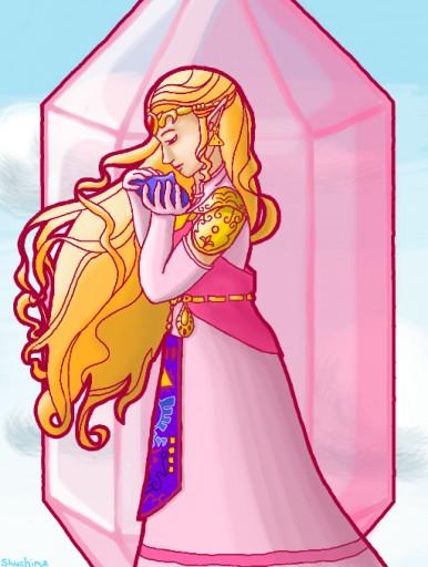 Colors Live Ocarina Of Time Princess Zelda Art Nouveau By