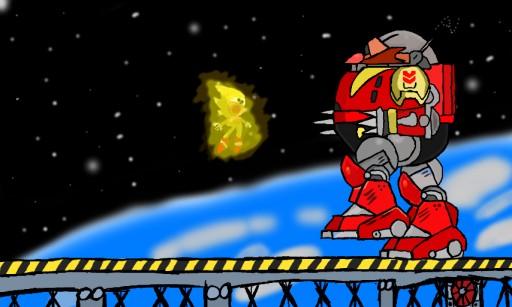 Super Sonic Vs Death Egg Robot