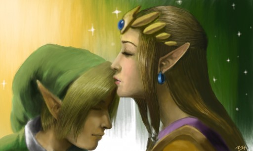 Link & Zelda  by Rich-Tea