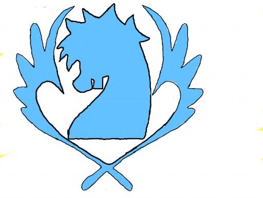 blue pegasus emblem