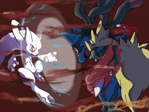 Pokemon Mega Lucario Vs Mega Mewtwo X | www.imgkid.com ...