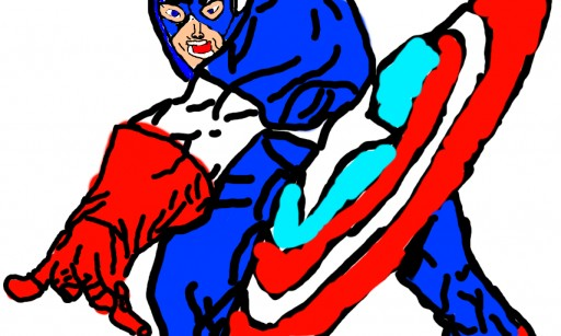 captain america by DOUG DAURY