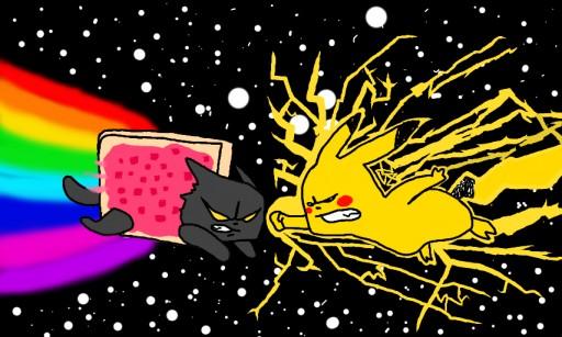 Colors Live Nyan Cat Vs Pikachu By Bulldogg