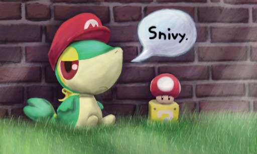 Super Snivy Bros. by RupeeClock