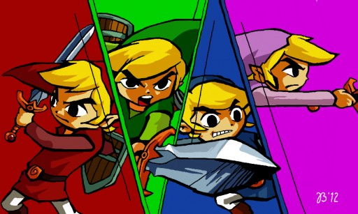 Zelda: Four Swords by MYSTIKO