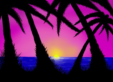 Tropical Sunset by destep