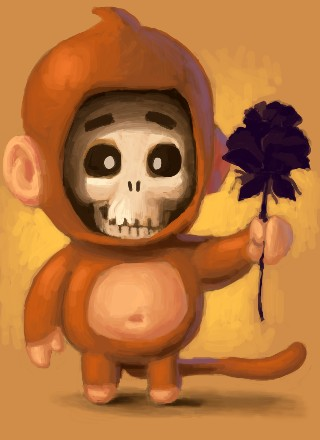 Skull-monkey by Electricwalrus