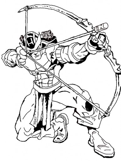 Marvel hawkeye drawing for Marvel hawkeye coloring pages