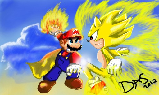 Super+Sonic+Vs+Super+Mario Mario vs Sonic (revised) by David14