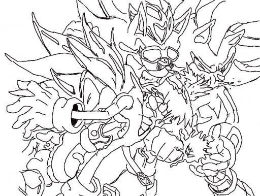 Super Sonic Y Super Shadow Para Colorear Imagui
