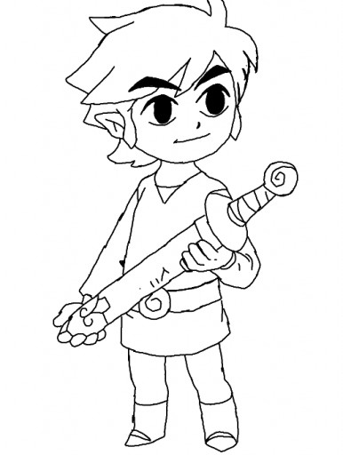 Colors! Live - toon link coloring page by Hylian Green