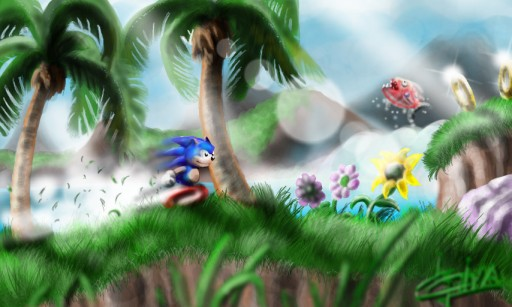 Sonic in the Green Hill Zone by Klausboss