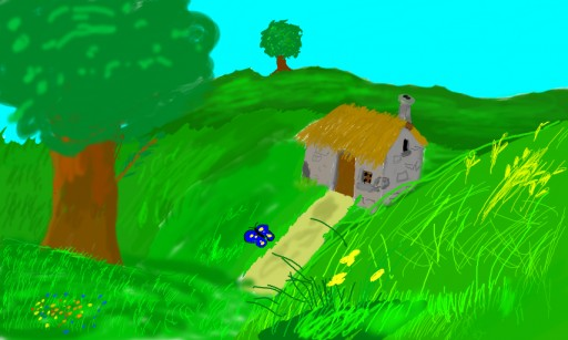 The house, grass, peace by filisz