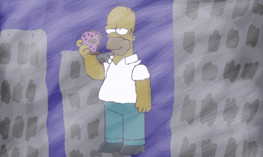 Homer in a foggy City by jenthegelfling
