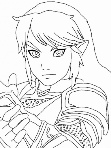 legend of zelda link coloring page by kassanova - Link Coloring Pages