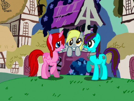 A Day in Ponyville by Davidsfire