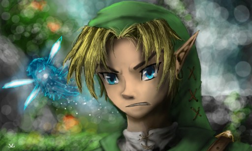 Link - The legend of Zelda: Ocarine of time. by Valeriae21