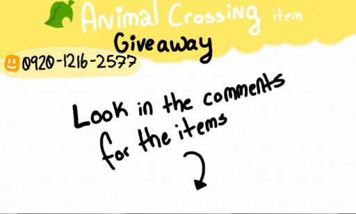 acnl item giveaway