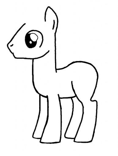 Celestia Kleurplaat My Little Pony Colors Live Male Pony Template By Avrilrox0202