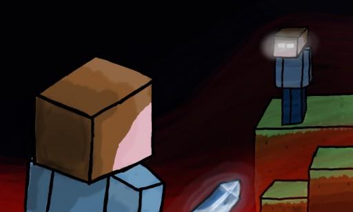 Minecraft Herobrine Vs Steve Minecraft - steve vs herobrine