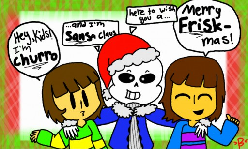 Undertale Christmas.Colors Live Undertale Christmas Cards Be Like By