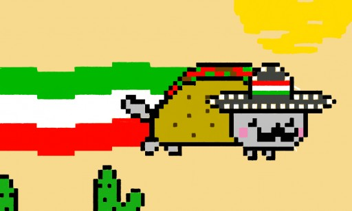 Nyan Cat And Taco Dog Taco Nyan Cat
