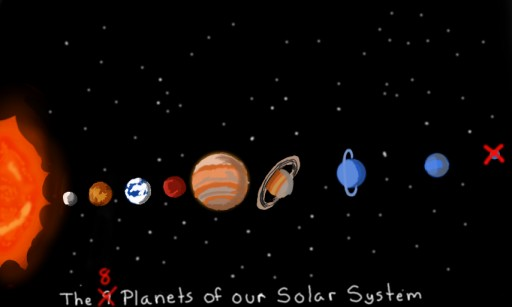 the 9 wait the 8 planets of our solar system