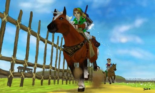 Link and Epona by Lenchen