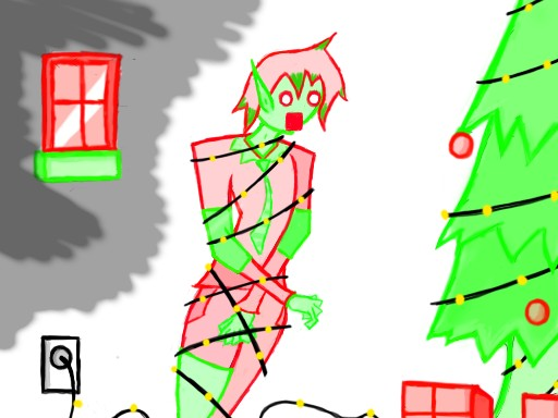 ELFING CHRISTMAS by tehe tummy