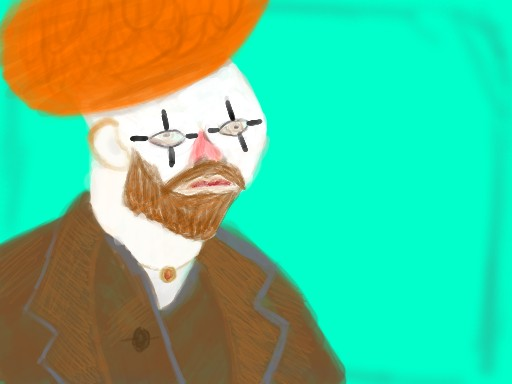 Clown Van Gogh by Zitzabis