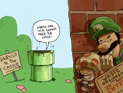 Luigi and Toad by adamturnip