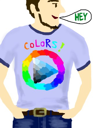Colors! T-shirt by Kenji.t