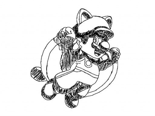 Squirrel Mario Coloring Pages