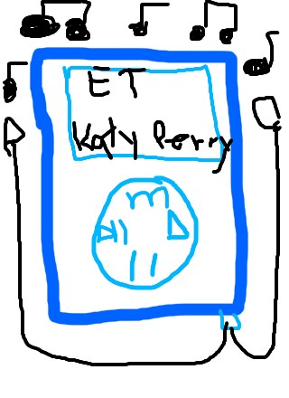 iPod... song- ET - Katy Perry.... I do not own thi by rasberry21